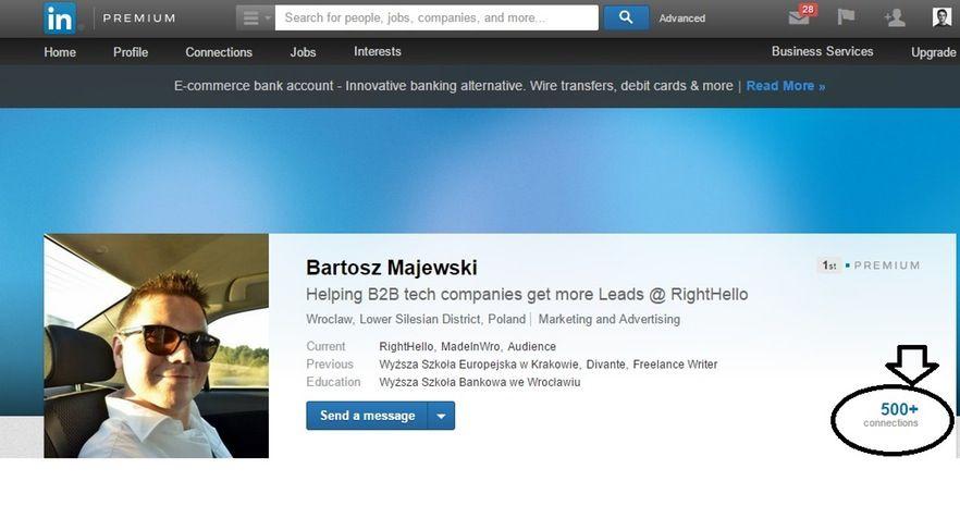bartosz majewski network of contact on linkedin