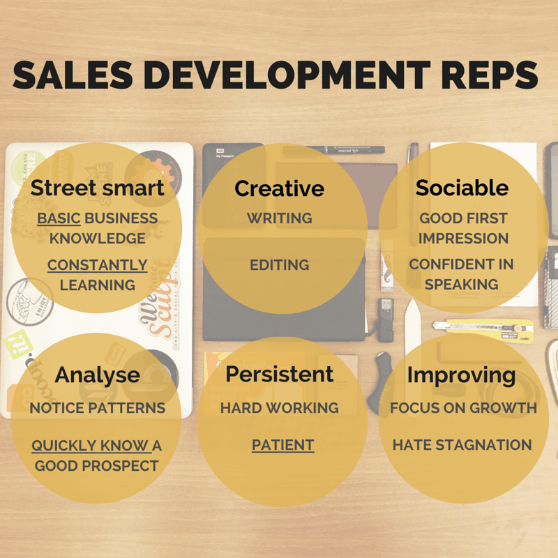 main features of sales development reps (SDR)