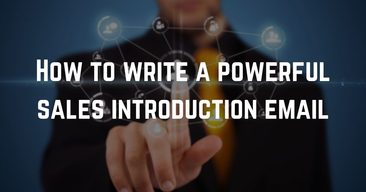How to write a sales introduction email righthello m4hsunfo