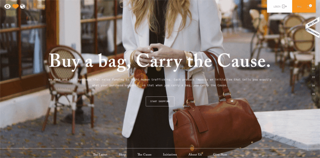 Eye Heart World Buy a Bag Carry the Cause