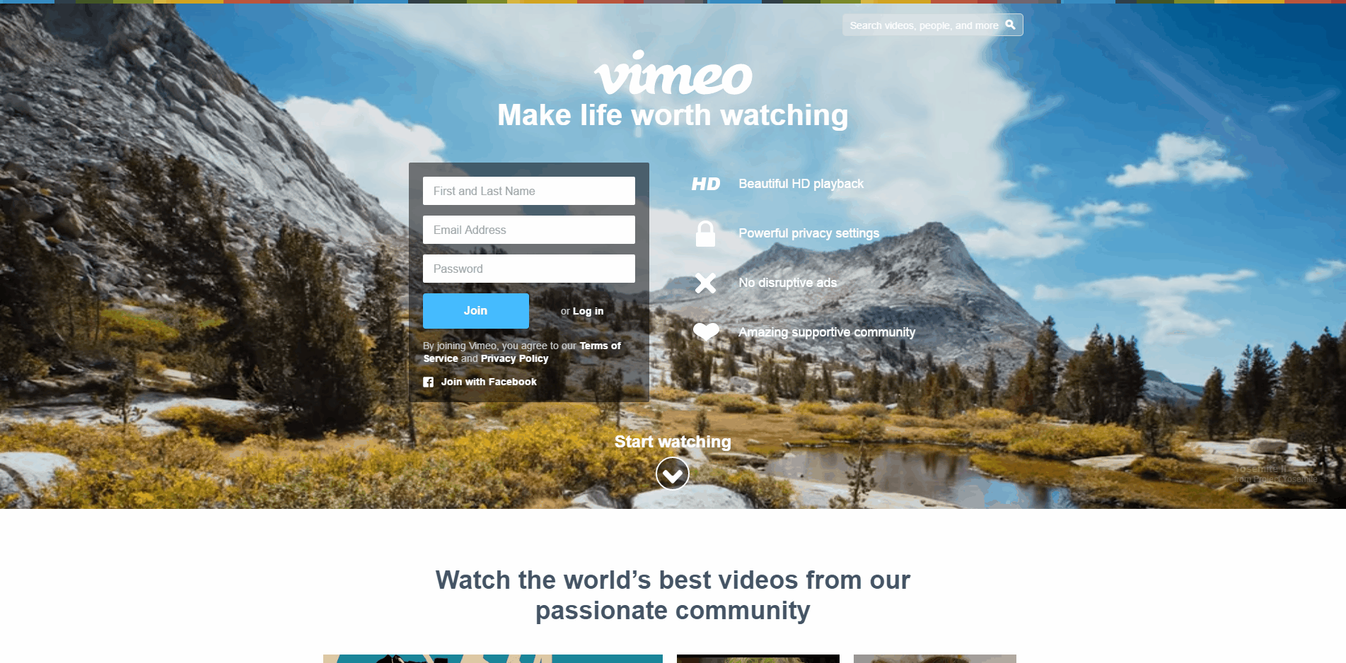 Vimeo Watch upload and share HD videos with no ads