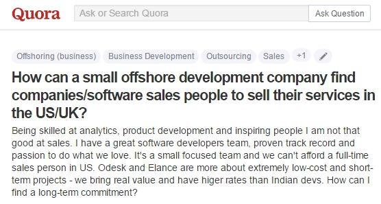about company who looking for sales people