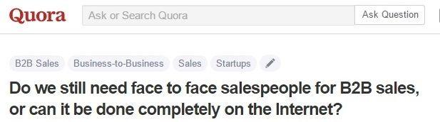 sales people and sales via Internet