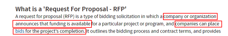 definition of RFP