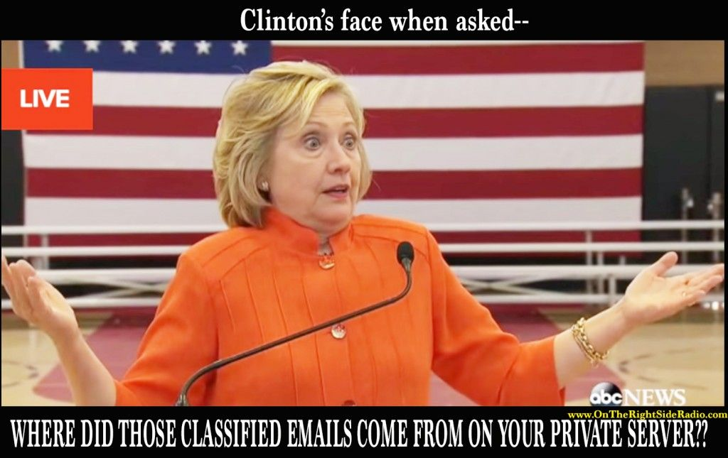 Clinton face after question about effective emails