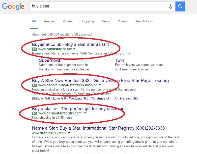 Google result for successful online advertising