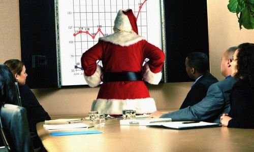 santa claus gives tips to improve sales performance